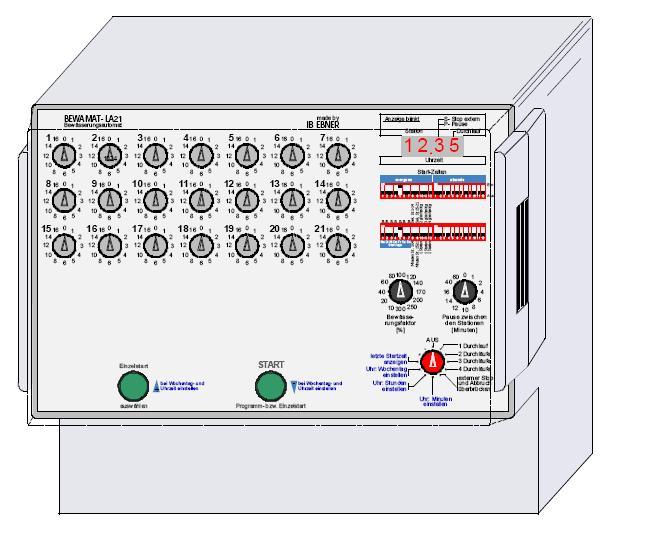 Bewamat LA21 Bewässerungssteuerung für 21 Ventile mit 24VAC