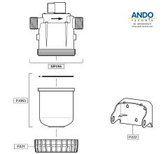 Dosatron Ersatzteile für das Gehäuse der D45 Serie