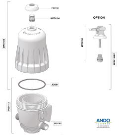 Dosatron Ersatzteile für das Gehäuse der D3 Serie