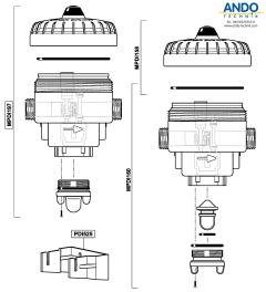 Dosatron Ersatzteile für das Gehäuse der D07 Serie