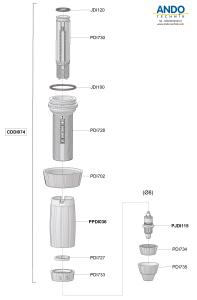 Dosatron Ersatzteile für die Dosierverstellung D3RE2VF